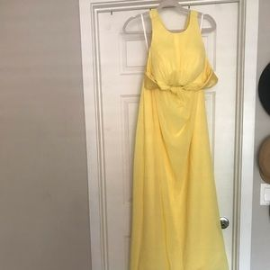 Dresses & Skirts - YELLOW HALTER GOWN